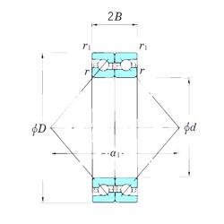 KOYO ACT028BDB angular contact ball bearings