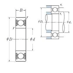 NSK 6910VV deep groove ball bearings