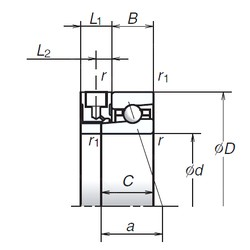 NSK 65BNR19XE angular contact ball bearings
