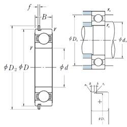 NSK 6009NR deep groove ball bearings