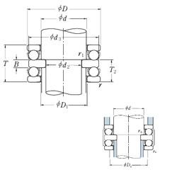 NSK 52413 thrust ball bearings