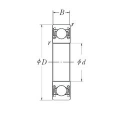 NSK 6916DDU deep groove ball bearings