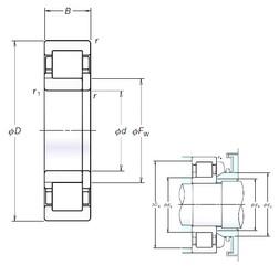 NSK NUP326EM cylindrical roller bearings