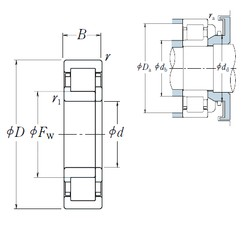 NSK NUP 320 cylindrical roller bearings
