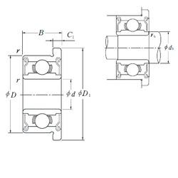 NSK F681XZZ deep groove ball bearings