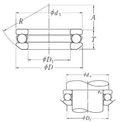 NSK 53216 thrust ball bearings