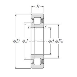NTN NUP307E cylindrical roller bearings