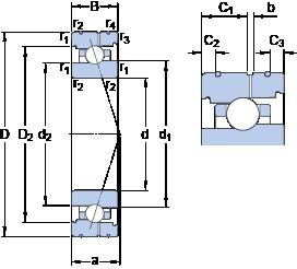 SKF 71924 CB/HCP4AL angular contact ball bearings