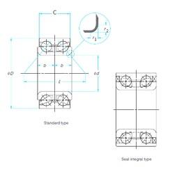 NTN DW0969LLCS28/5C angular contact ball bearings