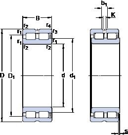 SKF NNCF 4936 CV cylindrical roller bearings