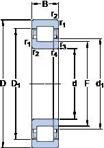 SKF NUP 311 ECP thrust ball bearings