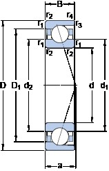 SKF 71803 CD/HCP4 angular contact ball bearings
