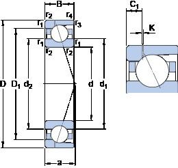 SKF 7038 CD/P4AH1 angular contact ball bearings