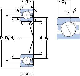 SKF 7003 CD/HCP4AH angular contact ball bearings