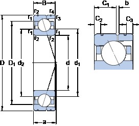 SKF 71915 CD/HCP4AL angular contact ball bearings
