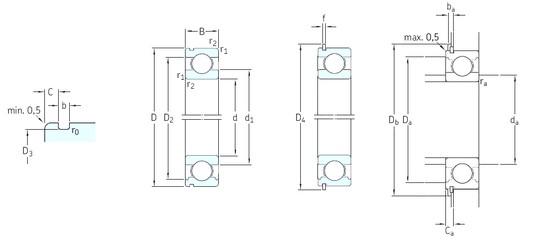 SKF 6217N deep groove ball bearings