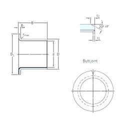SKF PCMF 252811.5 E plain bearings