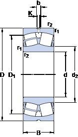 SKF 23252 CC/W33 spherical roller bearings
