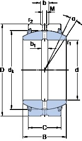 SKF GE 240 ESX-2LS plain bearings