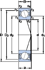 SKF S7011 ACD/HCP4A angular contact ball bearings