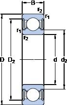 SKF D/W R4A-2RZ deep groove ball bearings