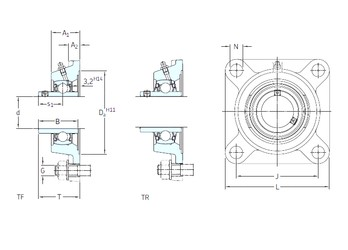 SKF FY 1.1/2 TF bearing units