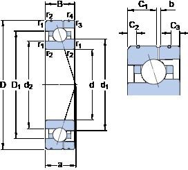 SKF 7008 ACE/P4AL angular contact ball bearings
