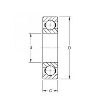 Timken 135BIC580 deep groove ball bearings