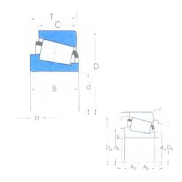 Timken EE720125/720236 tapered roller bearings