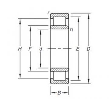 Timken NU203E.TVP cylindrical roller bearings