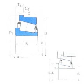 Timken 3877/3820B tapered roller bearings