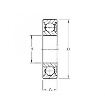 Timken 9117KD deep groove ball bearings