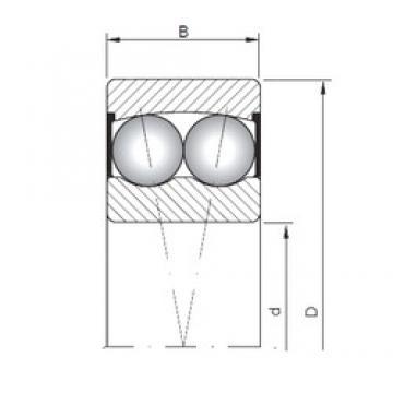 ISO 2307-2RS self aligning ball bearings