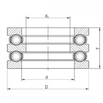 ISO 52416 thrust ball bearings