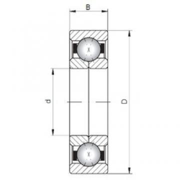 ISO QJ200 angular contact ball bearings