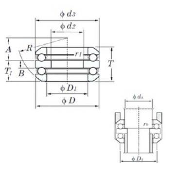 KOYO 54305 thrust ball bearings