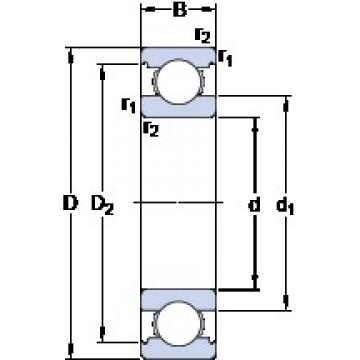 SKF 6211 deep groove ball bearings