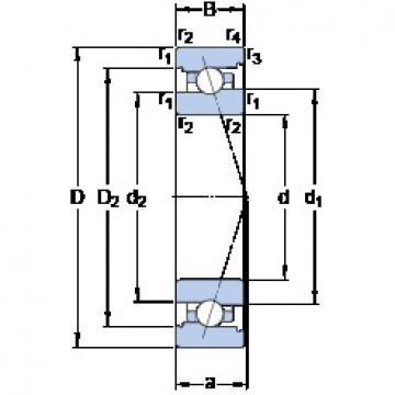 SKF 71910 CB/P4A angular contact ball bearings