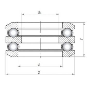 ISO 54414 thrust ball bearings