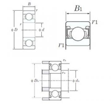 KOYO 635-2RS deep groove ball bearings