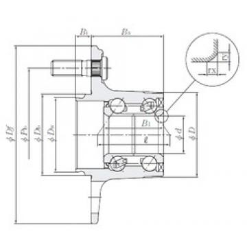 NTN HUB002-6 angular contact ball bearings