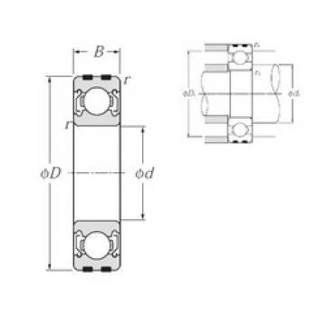 NTN EC-6201ZZ deep groove ball bearings