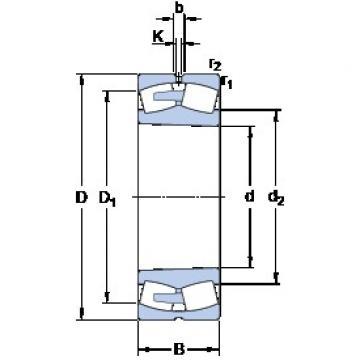 SKF 239/600 CAK/W33 spherical roller bearings