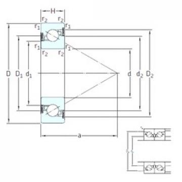 SKF BSD 50100 CG-2RZ thrust ball bearings