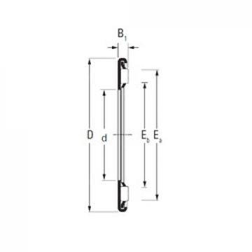 Timken AX 4,5 110 145 needle roller bearings