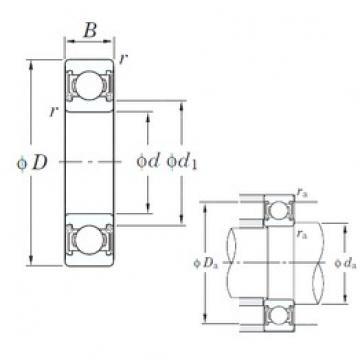 KOYO 6303 2RD C3 deep groove ball bearings