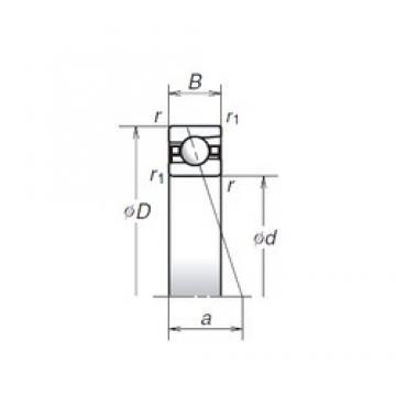 NSK 140BER19S angular contact ball bearings