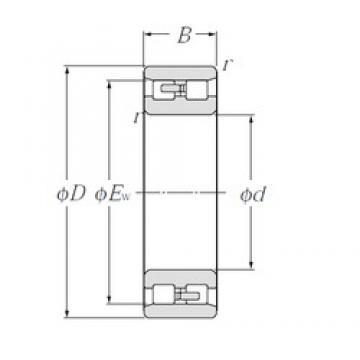 NTN NN3024 cylindrical roller bearings