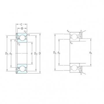 SKF ICOS-D1B01 TN9 deep groove ball bearings