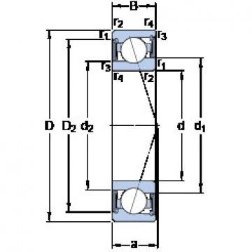 SKF S71915 ACE/HCP4A angular contact ball bearings